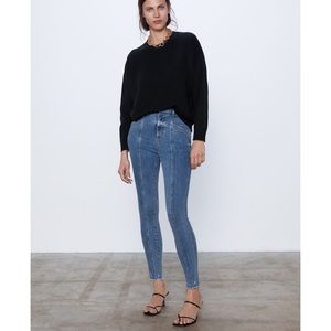 New Zara Z1975 Mid-Rise Faded Skinny Jean Size 6